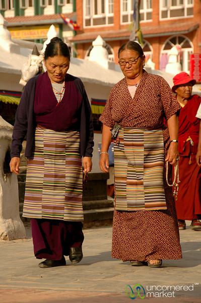 Tibetan Buddhist Pilgrims - Boudhanath, Nepal