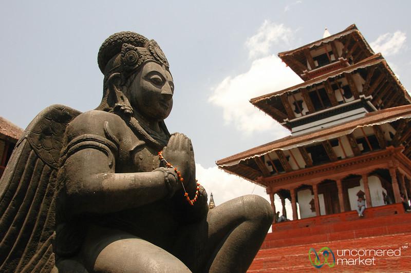 Guarding the Temple - Kathmandu, Nepal