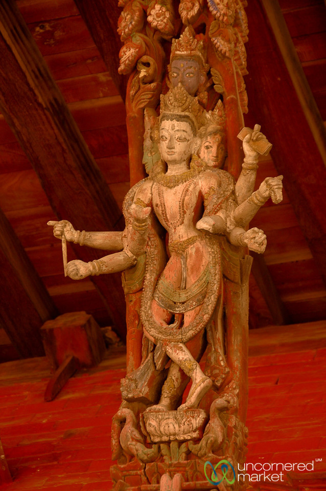 Intricate Woodcarving - Patan, Nepal