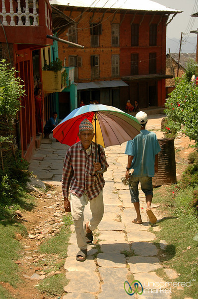 Walking Down Main Street in Bandipur - Nepal