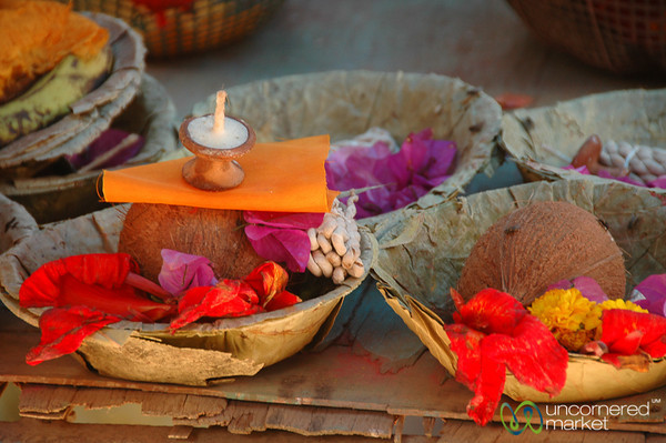 Simple Offerings - Patan, Nepal