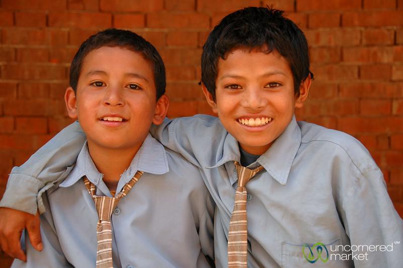 Young School Kids - Bakhtapur, Nepal