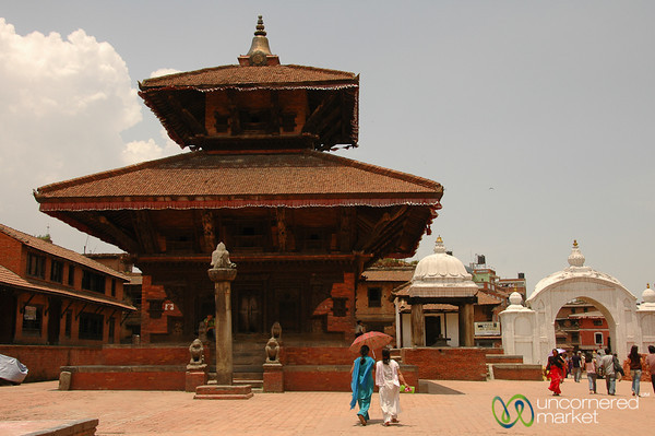 Walking Through Durbar Square in Bhaktapur, Nepal