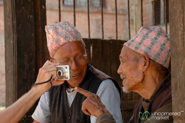 Showing the Image to Elders - Bakhtapur, Nepal