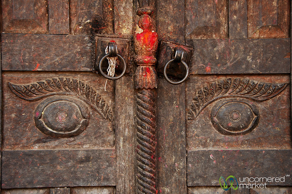 Doorway Eyes - Bakhtapur, Nepal