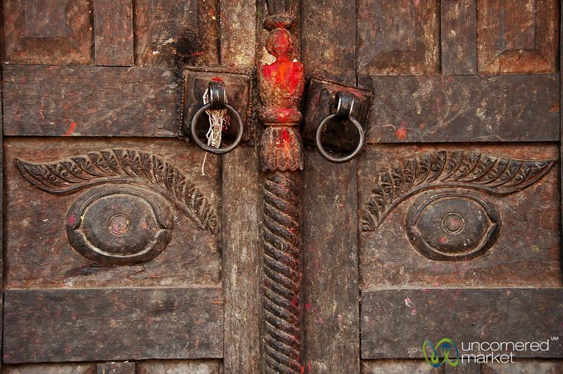 Doorway Eyes - Bakhtapur, Nepal