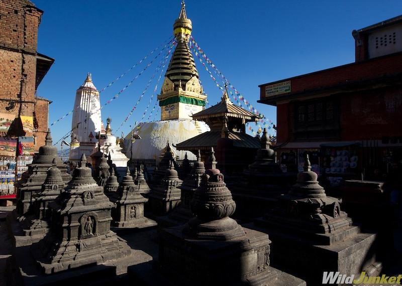Stupas at Swayambhunath