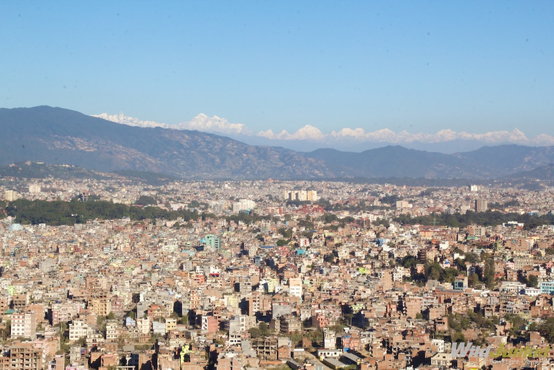 A view of Kathmandu from above