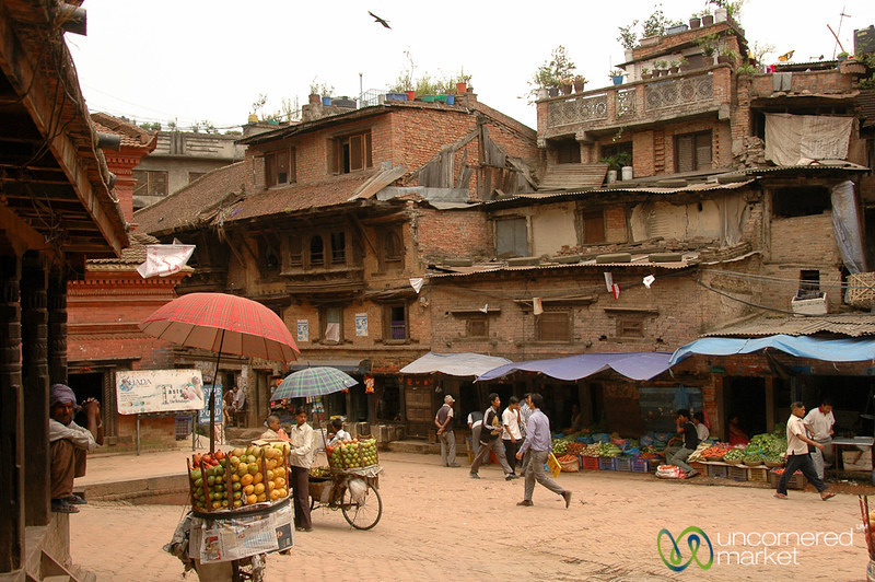 Typical Street Scene in Bhaktapur, Nepal