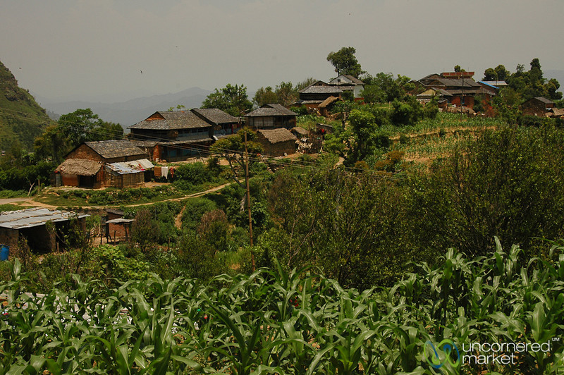 Village Scene Outside Bandipur, Nepal