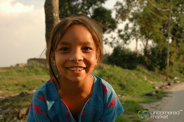 Photo Friendly Girl - Boudhanath, Nepal