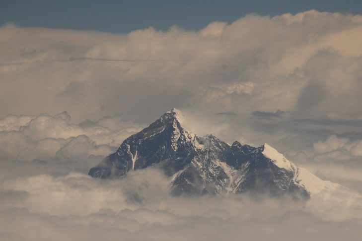 Himalayan Mountain Peak Above the Clouds - Himalayas, Nepal