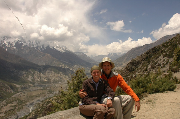 Audrey and Dan at Ghyaru - Annapurna, Nepal