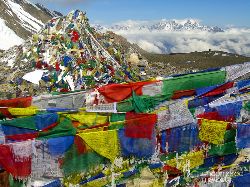 Prayer Flags at Thorong La Pass - Annapurna Circuit, Nepal