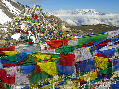 Prayer Flags at Thorong La Pass - Annapurna Circuit, Nepal