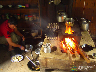 Traditional Wood-Fired Kitchen - Annapurna Circuit, Nepal