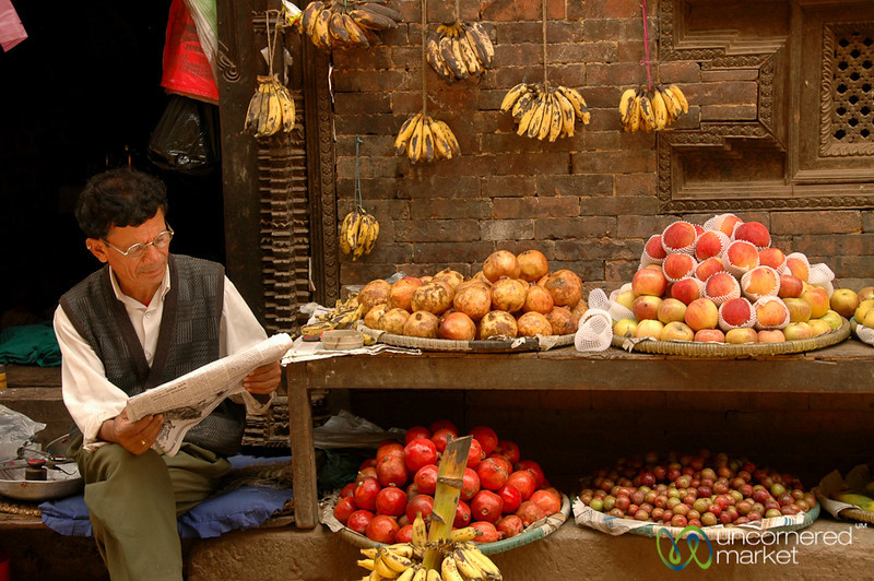 Fruit Vendor of Bhaktapur, Nepal