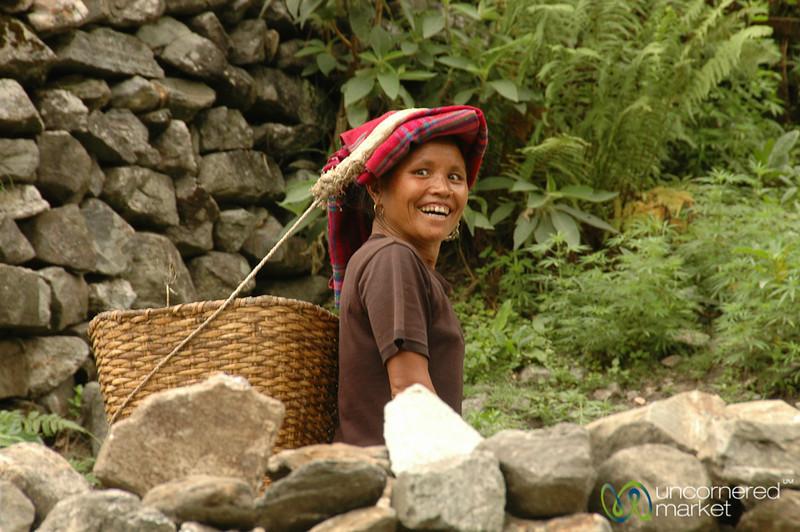 Friendly Face on Way to Tatopani - Annapurna Circuit, Nepal