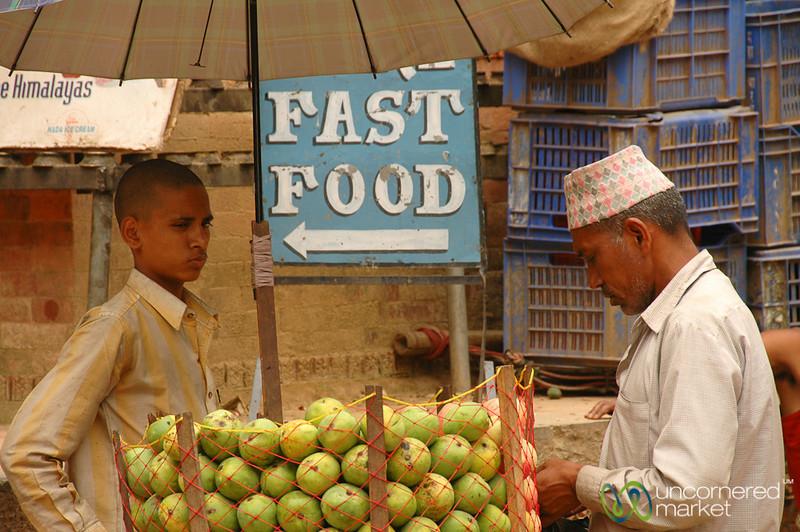 Fruit, not Fast Food - Bhaktapur, Nepal