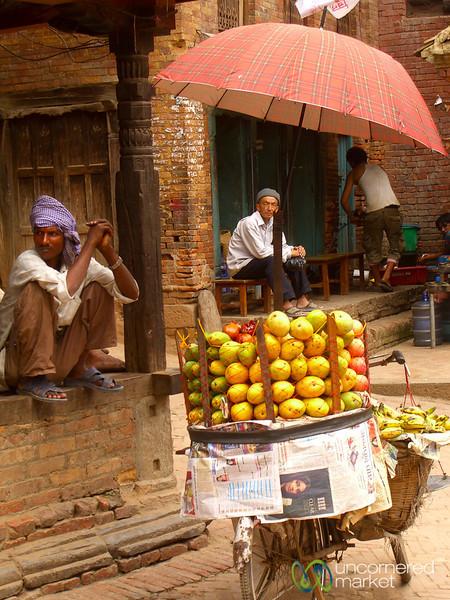 Mango Vendor in  Bhaktapur, Nepal