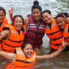 Women Trekking Guides learning to swim