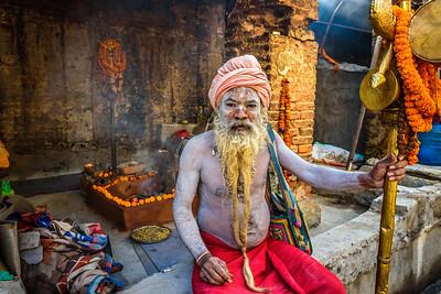 Shaiva sadhu in Pashupatinath Temple, Kathmandu, Nepal