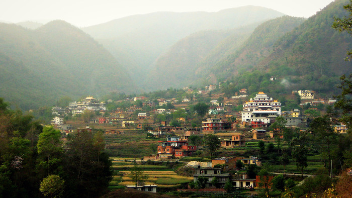 Pharping, a small village in the Kathmandu Valley.