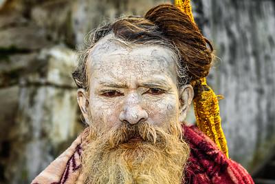 Wandering Shaiva sadhu in Pashupatinath Temple in Nepal