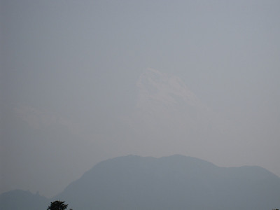 Annapurna South in the Haze from Poon Hill