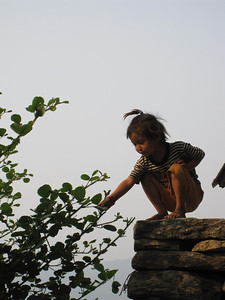 Small Nepali Child in the Mountains