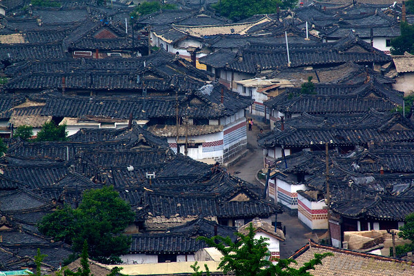 Rooftops in Kaesong