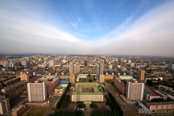 View of Pyongyang from the top of Juche Tower