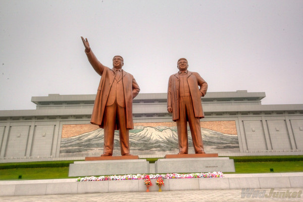 Statues of their leaders