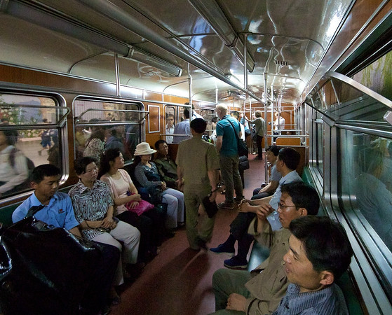 Inside the Pyongyang subway
