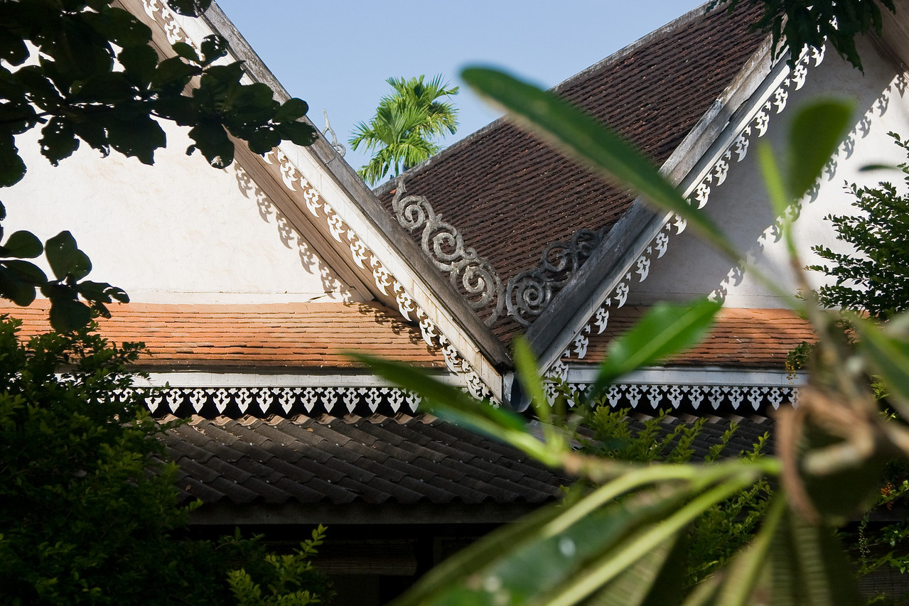 A study of rooflines in the Luang Prabang old town.<br /> <br /> #8 in a series of 8.<br /> <br /> Location: Luang Prabang, Laos<br /> <br /> Lens used: 24-105mm f4.0 IS