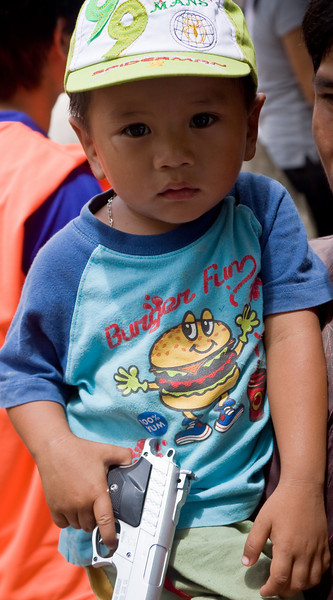 Burger Fun.  100% Yum.<br /> <br /> Location: Luang Prabang, Laos<br /> <br /> Lens used: 24-105mm f4.0 IS