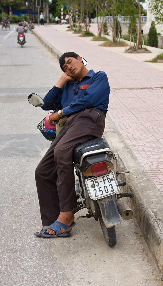 Asleep at the wheel.<br /> <br /> Location: Ninh Binh, Vietnam<br /> <br /> Lens used: 24-105mm f4.0 IS