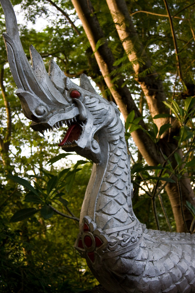 The Dragon is a common symbol in and element of Laotian Buddhism.<br /> <br /> Location: Luang Prabang, Laos<br /> <br /> Lens used: 24-105mm f4.0 IS