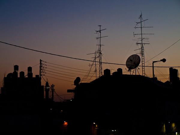 Skumringstime over Ramallah (Foto: Ståle)