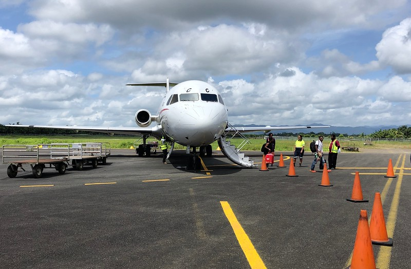 Arrival at Gurney Airport, GUR, Alotau, PNG