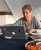 Martha Kaiser, enjoying snacks between dives