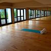 The hotel's yoga studio