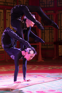 Interestingly each show included a contortionist act