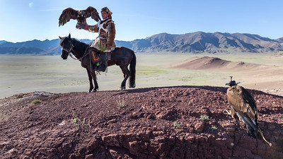 The Khazak eagle hunters of western Mongolia are very proud