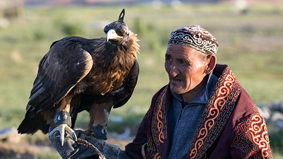 It's hard to show how close the eagle human relationship is in photographs