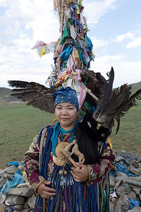 In contrast not quite the same can be said for this traditional shaman in her costume