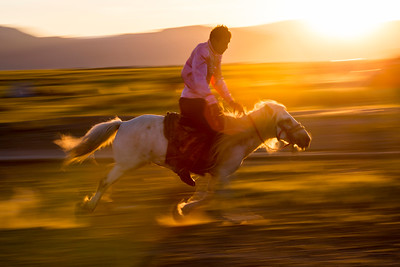 They practice constantly wherever there are young men and horses in Mongolia