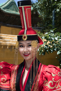 The fancy traditional costumes were quite attractive on these young women