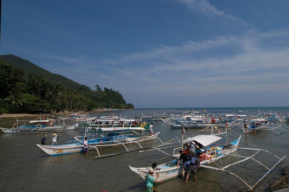 Water jeepneys, Puerto Princessa, Philippines