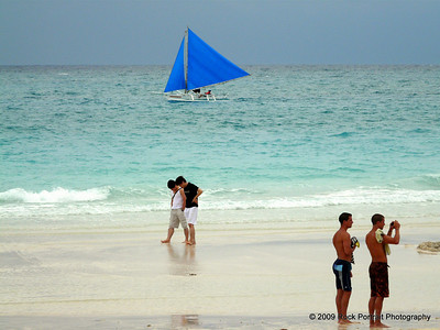 With a storm coming in Boracay beach looks beautiful